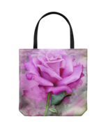 Large Pink Rose Art Tote Bag Shoulder or Carry Double Sided Print Travel... - $19.95