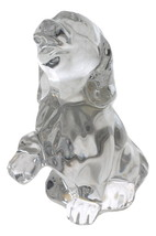 Bohemian Crystal Sitting Dog Figurine - $24.98