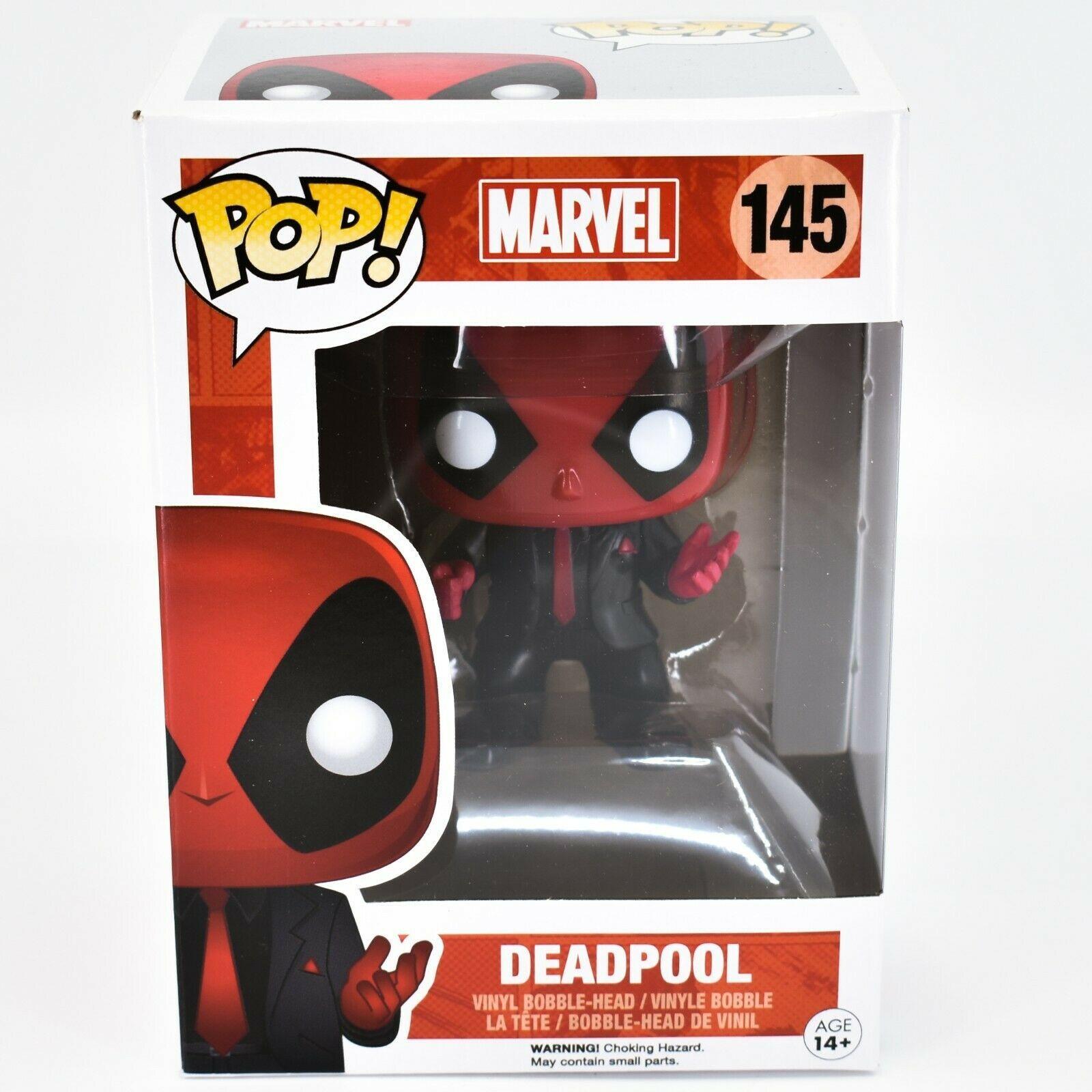 Funko Pop! Marvel Deadpool Dressed to Kill in Suit #145 Vinyl Bobble Head