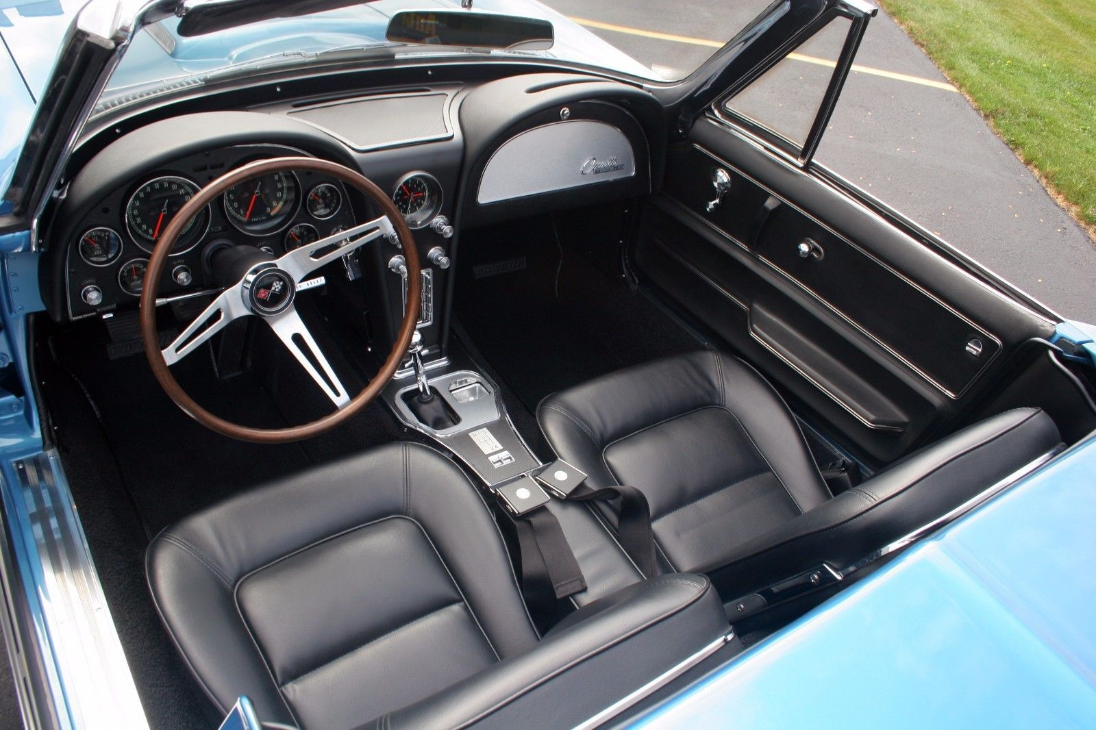 Primary image for 1965 CORVETTE CONVERTIBLE interior 24X36 inch poster, sports car, muscle car