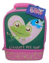 Thermos Littlest Pet Shop Frog Insulated Lunch Box W/Snack Compartment N... - $14.84