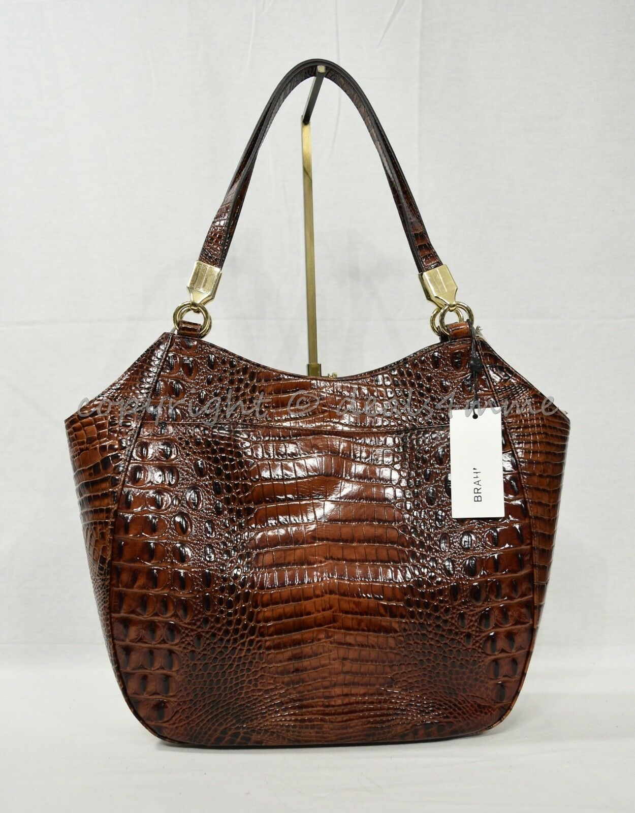 NWT Brahmin Marianna Leather Tote / Shoulder Bag in Pecan Melbourne image 3