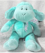 GANZ HE9835 Polyester Fiber 11 Inch Blue Tie Dye Lambie With A Satin Bow - $15.00