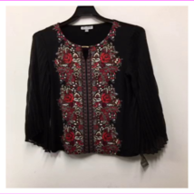 JM Collection Women's Pleated-Sleeve Embellished Blouse  - $12.00