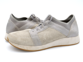 Dansko Womens 9.5 Gray Lace Up Round Toe Leather Sneaker Athletic Shoes ... - $49.99