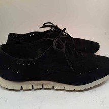 Cole Haan Womens Zerogrand Wingtip Oxford Shoes Black Suede Cut Outs Fla... - £23.29 GBP