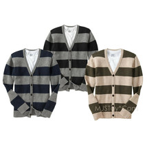 NWT Old Navy Men Striped Wool Blend Sweaters V-Neck 5 Button Cardigans S... - $39.99
