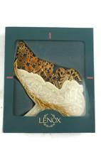 Lenox Vintage Christmas Ornament Porcelain Santa's Sleigh Presents Brass  - $13.99
