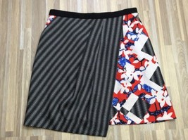 Peter Pilotto for Target Checked Floral Faux Wrap Skirt Size 6 - $14.95
