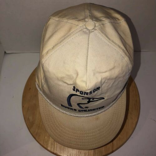 Vintage DUCKS UNLIMITED Sponsor 80s USA Hat Cap Strapback Dorfman Pacific ROPE image 9