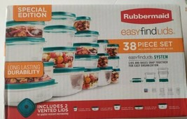NEW Rubbermaid Easy Find Lids Food Storage Containers, 38-Piece Set  - $19.99