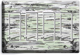 Birch Tree Bark Wood Texture Light Switch Wall 4 Gfci Plates Modern Room Decor - $19.79