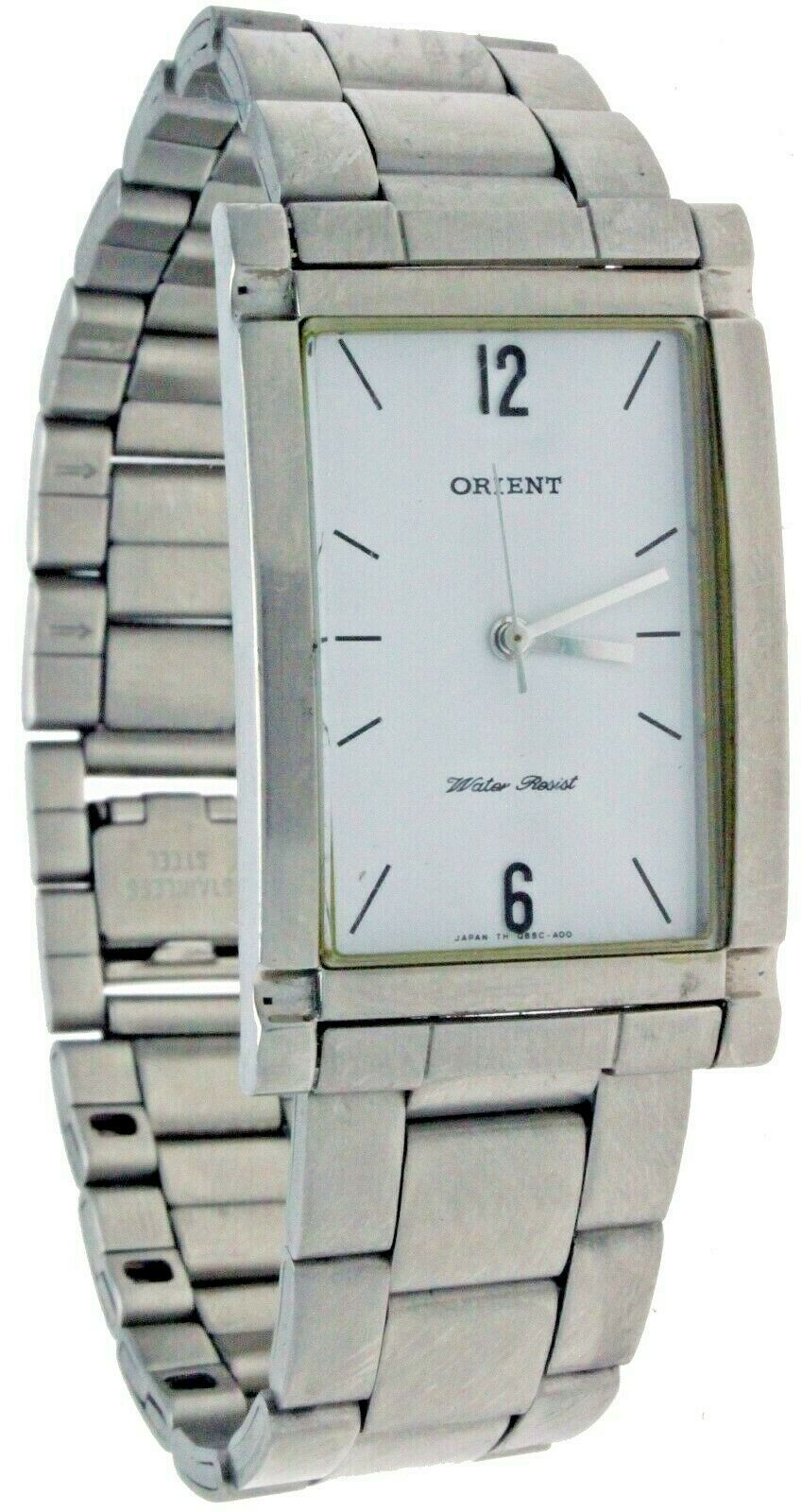 Primary image for New ORIENT Quartz Stainles Steel Band & Case White Dial Watch Water Resistant