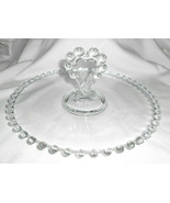 "IMPERIAL CANDLEWICK TIDBIT PLATE SERVER TRAY HEART HANDLE  8 1/2"" - $15.83"