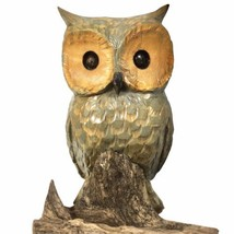 Vintage Hand Carved Solid Wood Wooden Owl Perched on Branch Signed Fulton - $37.36