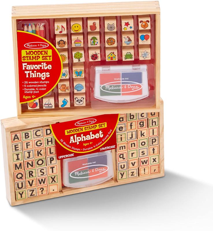Melissa & Doug Alphabet & Favorite Things Stamp Sets Bundle - $41.58