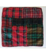 Pottery Barn Sullivan Plaid Patchwork Quilted Euro Sham Red Green Christ... - $57.23