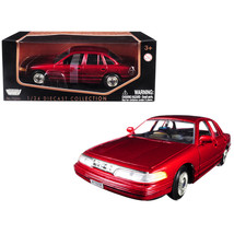 1998 Ford Crown Victoria Metallic Red 1/24 Diecast Model Car by Motormax... - $31.10