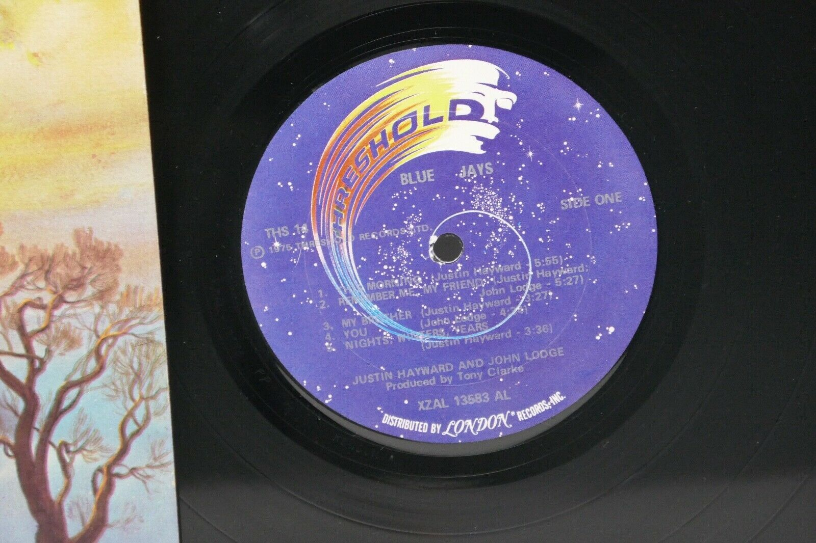 "Threshold 1975 Justin Hayward & John Lodge Blue Jays 12"" LP Vinyl Record Insert"
