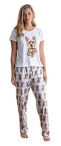 Dog Yorkshire terrier pajama set with pants for women Yorkie - $35.00
