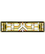 42x10 Stained Art Glass MISSION STYLE Window Suncatcher - $95.00