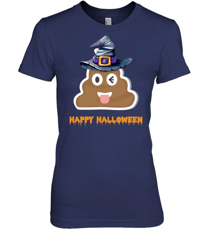 Funny Scary Witch Poop Halloween Trick Or Treat Tshirt