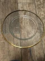 """Clear Gold Trimmed Serving Platter 13"""" Wide - $9.90"""