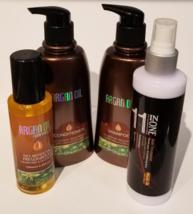 ARGAN OIL HAIR CARE PACKAGE- 4 BOTTLES ARGAN OIL HAIR-CARE PRODUCTS - $64.99