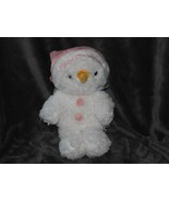 Aurora Baby My 1st First Xmas Stuffed Plush Snowman Snowgirl Pink Hat 09... - $39.59
