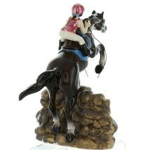 Hagen Renaker Specialty Horse Jumping with Rider Ceramic Figurine image 5