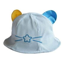 Lovely Cap Cotton Sunhat Foldable Beach Hat Great Gift Baby Hat Summer Hat Blue
