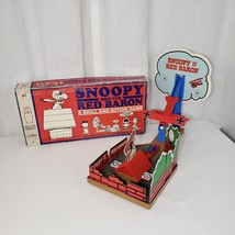 1970 SNOOPY AND THE RED BARON BOARD GAME BOXED by MILTON BRADLEY PARTS - $29.66