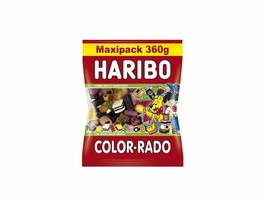 HARIBO Color-Rado Licorice gummies -XL 360g-FREE SHIPPING - $13.85
