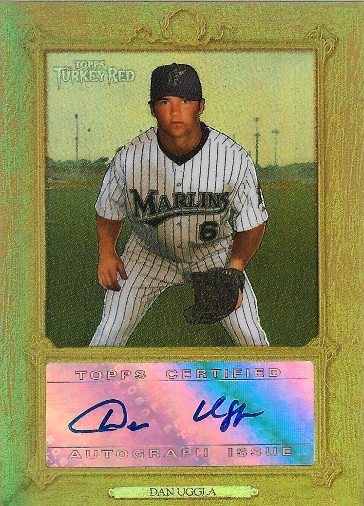 Primary image for Dan Uggla Topps Turkey Red #TRC-DU Autograph Refractor Florida Marlins