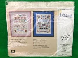 The Creative Circle Teddy Bear Sampler Vintage Cross Stitch Needle Point... - $12.02