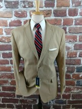 JKT Britches by Samtext Mens 2 Btn Blazer Sportcoat Jacket Khaki Beige 4... - $38.70