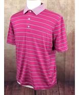 Bobby Jones Golf Short Sleeve 100% Cotton Pink Stripe Shirt Men's M - $19.79