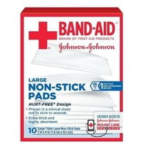 """Band-Aid Brand Large Non-Stick Pads, Triple Layer Pads 3""""x4"""", 10 Ct (PACK OF 6) - $92.02"""