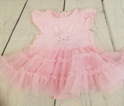 Little me 6 months pink easter bunny dress - $5.69