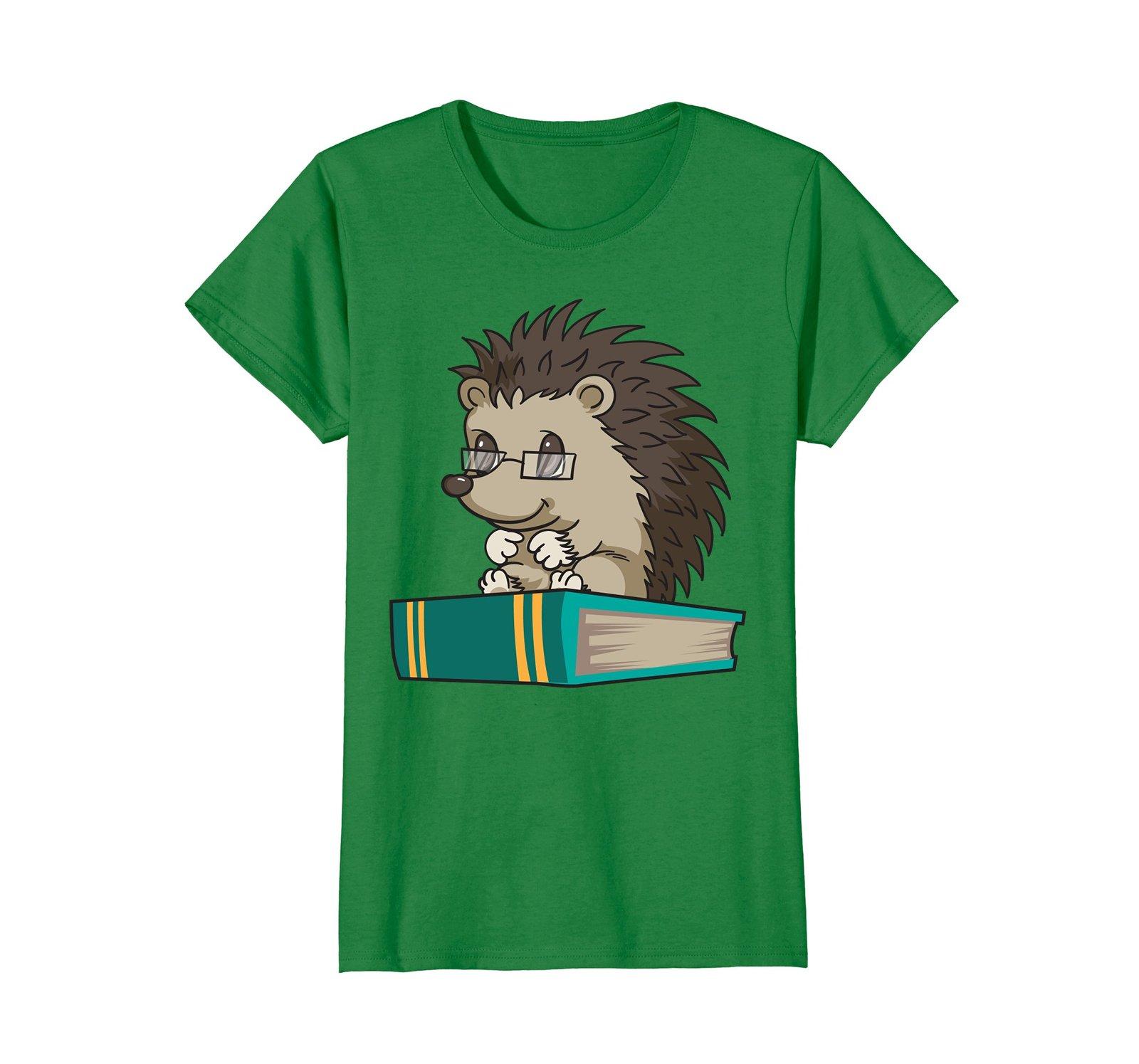 Cute Unique Bookworm Reading Hedgehog Shirt Gift