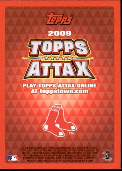 Jason Varitek 2009 Topps Attax Card
