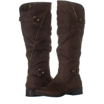 White Mountain Leto Slouch Knee High Boots 829, Coffee, 7 US - $26.87