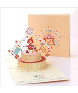 Timmor 3D Flower Pop Up cards, Birthday Cards,Mother Birthday Card,Fathe... - $9.50