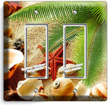 Sea Shell Beach Sand Palm Starfish 2 Gfci Light Switch Wall Plate Bathroom Decor - $11.69