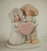 Circle of Friends I Love Jesus Bisque Figurine by Masterpiece 1994 HOMCO - $21.77