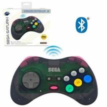 Retro Sega Saturn Bluetooth Wireless Controller 8-Button Arcade Pad Slat... - $29.39