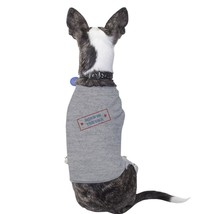 Born In The USA Grey Small Breed Pets T-Shirt For Fourth Of July - $14.99