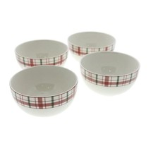 Martha Stewart Collection Festive Plaid Small Bowls, Set of 4 NEW - $22.99