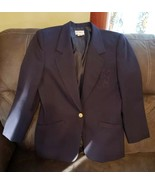 Vtg 80s Koret Petites Womans Blue Blazer Sz 8  - $14.03