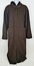 Chivalry Outerwear Wool Blend Long Full Length Zip Up Hooded Brown Coat ... - $39.54